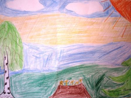 мое отечество детский рисунок